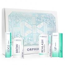 Orphica/Realash Premium Beauty ZESTAW Odżywka do rzęs 3 ml + Tusz do rzęs 8 ml + Eyeliner w kredce + Odżywka do brwi 4 ml