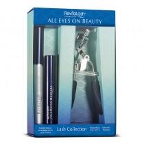 Revitalash All Eyes On Beauty 3,5 ml ZESTAW piękno oczu 3 w 1 odżywka stymulująca wzrost rzęs, maskara, zalotka 3,5 ml, 3 ml