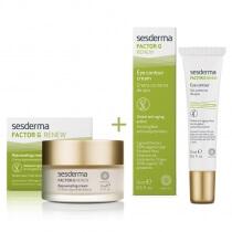 Sesderma Factor G Cream + Eye Contour Cream ZESTAW Regenerujący krem przeciwstarzeniowy 50 ml + Krem pod oczy 15 ml