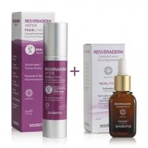 Sesderma Resveraderm ZESTAW Resveraderm Antiox Krem przeciwstarzeniowy + Serum 50 ml, 30 ml