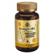 Solgar Kanguwity (smak owoce tropikalne) Kompletny zestaw witamin i składników mineralnych 60 pastylek
