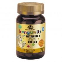 Solgar Kanguwity Witamina C 100 mg Pastylki do ssania naturalny smak soczystych pomarańcz 90 pastylek