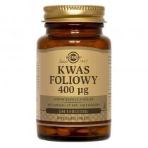 Solgar Kwas Foliowy 400 µg Hipoalergiczny 100 tabletek