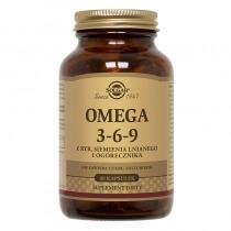 Solgar Omega 3-6-9 Z ryb, siemienia lnianego i ogórecznika 60 kapsułek