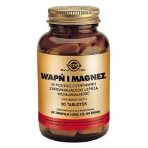 Solgar Wapń i Magnez W postaci cytrynianu zapewniającego lepszą wchłanialność 50 tabletek