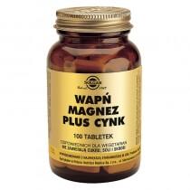 Solgar Wapń, Magnez plus Cynk 100 tabletek