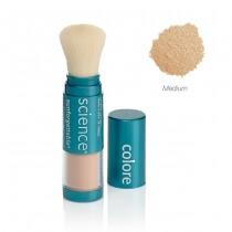 Colorescience Sunforgetable Mineral Sunscreen Brush Mineralny puder ochronny SPF 50 w pędzlu - kolor Medium 6 g